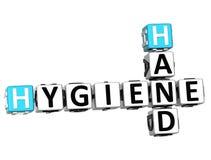 mots croisé de main de l'hygiène 3D Photos libres de droits