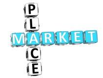 Mots croisé de Market Place illustration stock