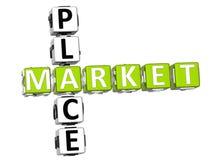 Mots croisé de Market Place illustration libre de droits