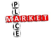 Mots croisé de Market Place Image libre de droits