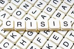 Mots croisé de mot des textes de titre de crise La lettre d'alphabet bloque le fond de texture de jeu Lettres alphabétiques blanc Images stock