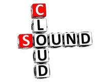 mots croisé de nuage du bruit 3D Photo stock