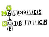 mots croisé de nutrition de calories de la valeur 3D Image stock
