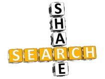mots croisé de part de la recherche 3D Photographie stock libre de droits