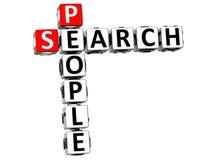 mots croisé de personnes de la recherche 3D Image libre de droits