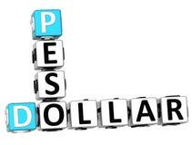 mots croisé de peso du dollar 3D Photographie stock