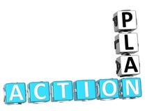 Mots croisé de plan d'action Photo libre de droits