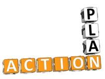 mots croisé de plan d'action 3D sur le fond blanc Illustration Libre de Droits