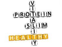 mots croisé de régime de santé de la nutrition 3D Photos stock