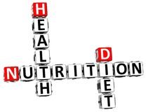mots croisé de régime de santé de la nutrition 3D Photo stock