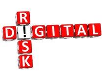 mots croisé de risque de 3D Digital Photo libre de droits