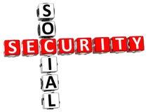 Mots croisé de sécurité sociale illustration de vecteur