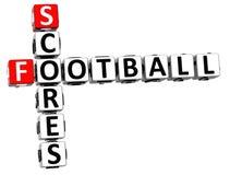 mots croisé de scores de football 3D sur le fond blanc Photo stock