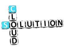 mots croisé de solution du nuage 3D illustration de vecteur