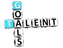 mots croisé de talent des buts 3D Image stock