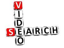 mots croisé de vidéo de la recherche 3D Image libre de droits