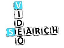 mots croisé de vidéo de la recherche 3D Photographie stock