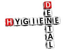 mots croisé dentaires de l'hygiène 3D Images libres de droits