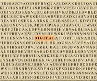 Mots croisé-digital Photos libres de droits