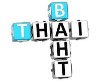 mots croisé du baht 3D thaïlandais Images libres de droits