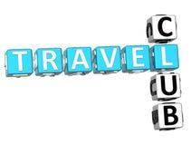 mots croisé du club de voyages 3D illustration libre de droits