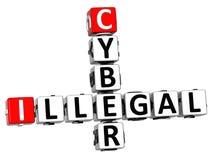 mots croisé illégaux du Cyber 3D Image libre de droits