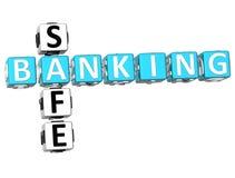 Mots croisé sûrs d'opérations bancaires Image libre de droits