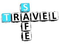 mots croisé sûrs du voyage 3D illustration libre de droits