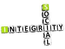 mots croisé sociaux de l'intégrité 3D Images libres de droits