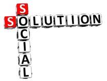 mots croisé sociaux de la solution 3D illustration de vecteur