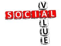 mots croisé sociaux de la valeur 3D Image libre de droits