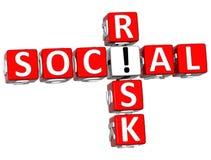 mots croisé sociaux du risque 3D Photographie stock libre de droits