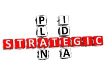 mots croisé stratégiques d'idée du plan 3D Illustration Libre de Droits