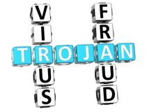 Mots croisé Trojan de fraude de virus Photo stock