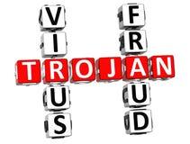 Mots croisé Trojan de fraude de virus Image stock