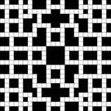 Mots croisé vides noirs et blancs simples Puzzle Photo stock