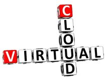 mots croisé virtuels du nuage 3D Photo stock