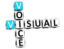 mots croisé visuels de la voix 3D illustration libre de droits