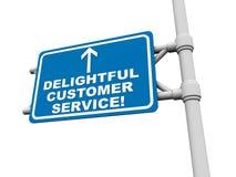 Service à la clientèle délicieux illustration libre de droits