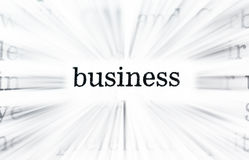 Mots d'affaires Images libres de droits