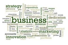 Mots d'affaires Photographie stock libre de droits