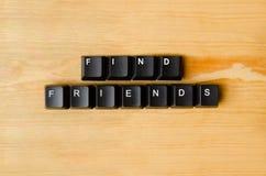 Mots d'amis de découverte Photos libres de droits