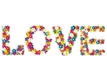 Mots d'amour Image stock
