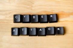 Mots d'attaque de Cyber photographie stock