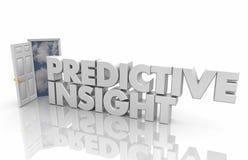 Mots 3d R de l'information d'intelligence de porte ouverte d'analyse de Predicitve Images stock