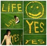 mots de collage de fleurs Image libre de droits