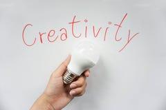 Mots de concept de la créativité Photo stock