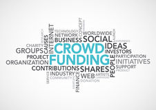 Mots de Crowdfunding Images stock
