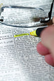 Mots de dictionnaire Photos stock