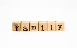 Mots de famille, concept de parents Photographie stock libre de droits